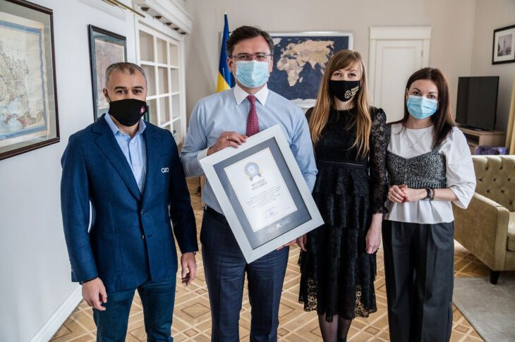 """Рекорд зафиксирован в """"Книге рекордов Украины""""."""