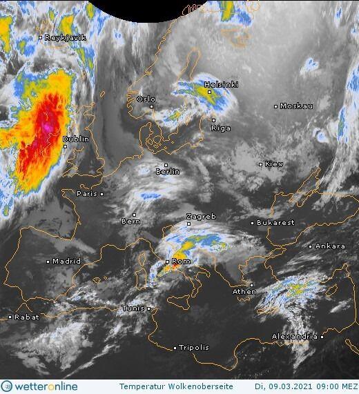 Карта погоды в Украине на 10 марта