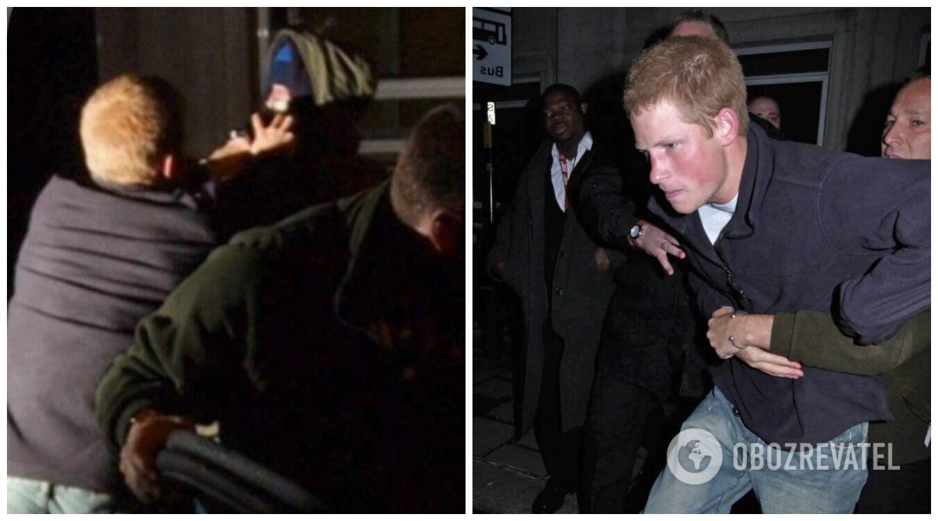 Принц Гаррі часто потрапляв у скандали, коли кидався з кулаками на папараці