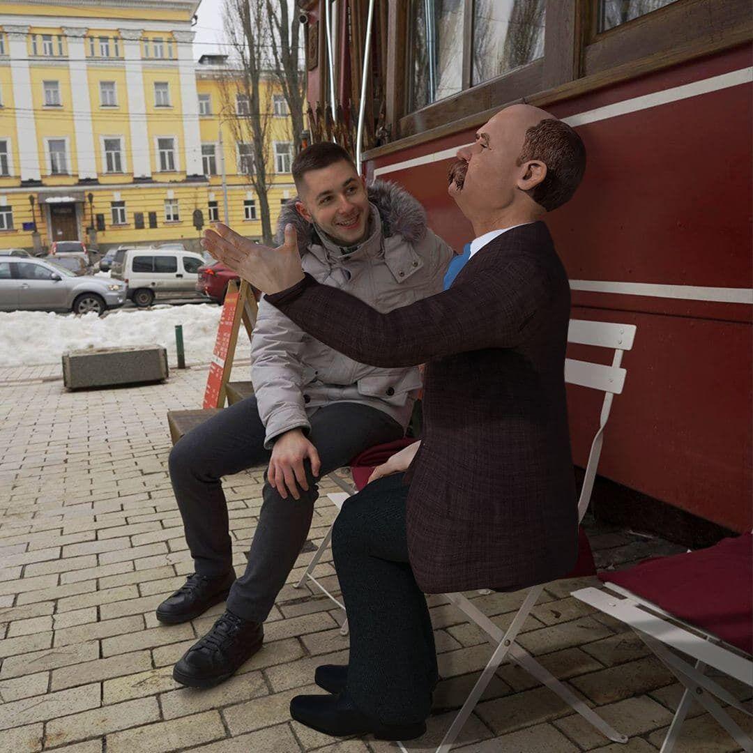 Тарас Шевченко святкує день народження в доповненій реальності.