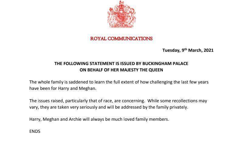 Реакція королівської сім'ї