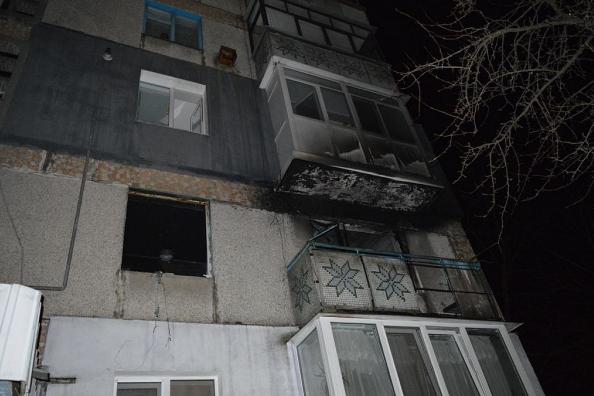 Окно пострадавшей квартиры