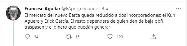 """Серхіо Агуеро й Ерік Гарсія можуть перейти в """"Барсу"""""""