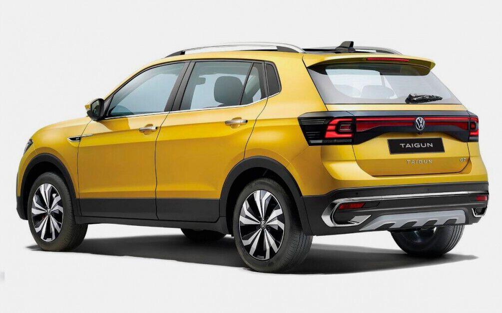 Задняя часть Volkswagen Taigun