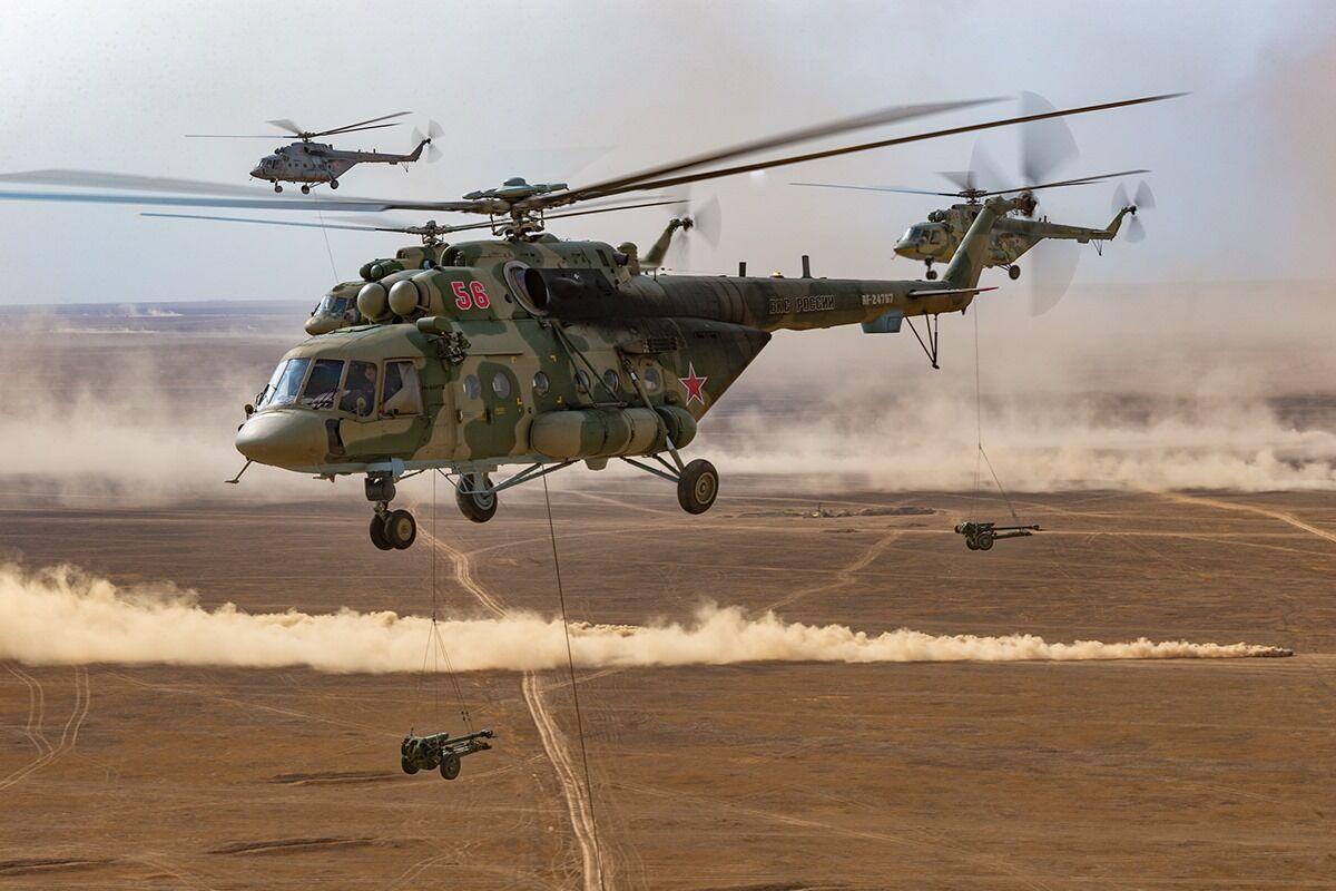 Бойові вертольоти РФ.