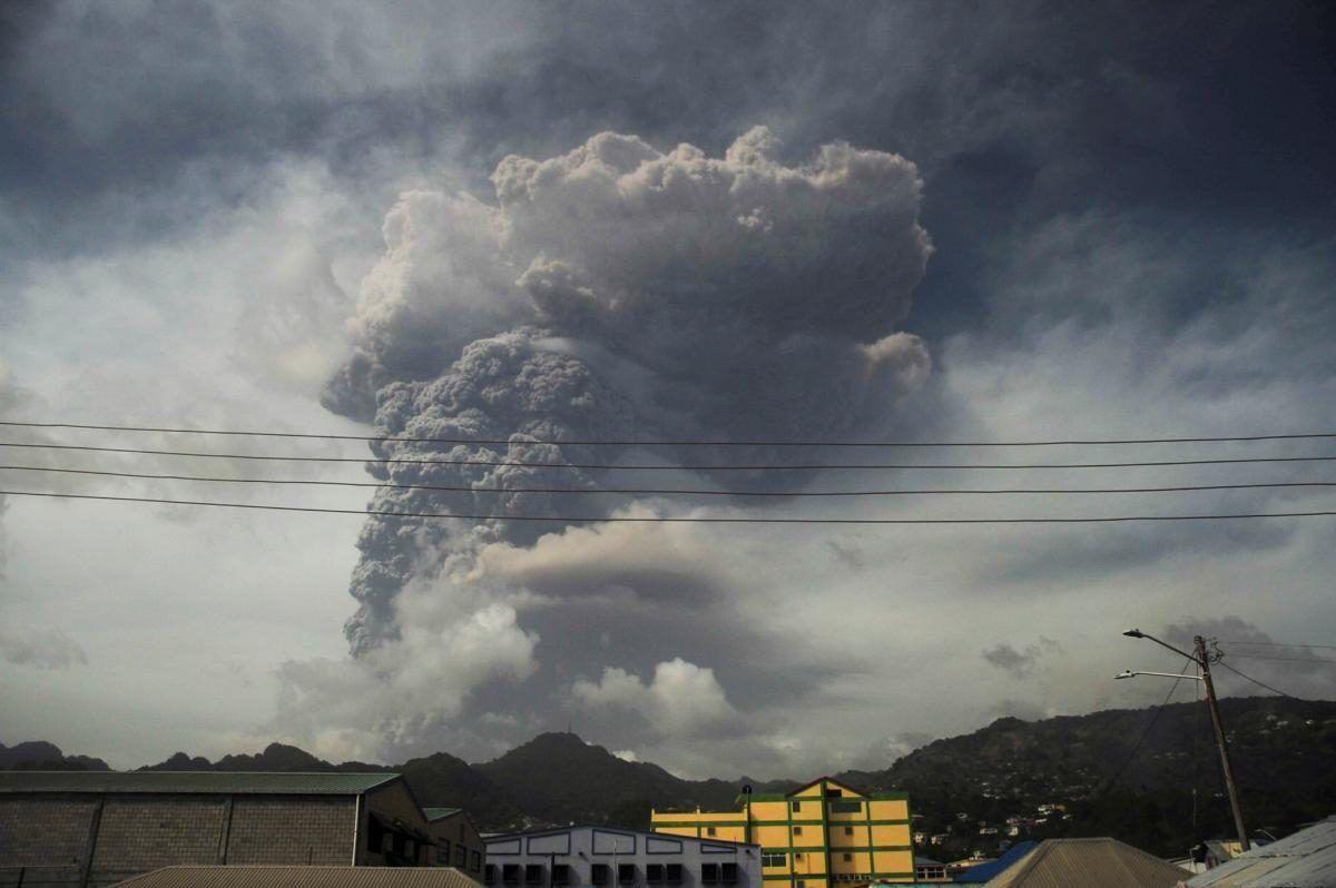 Извержение вулкана Суфриер