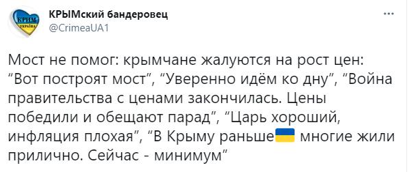 Кримчани почали масово скаржитися на зростання цін: Керченський міст не допоміг