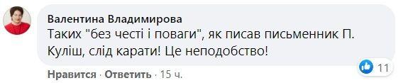 Комментарии под постом Елены Мозговой.