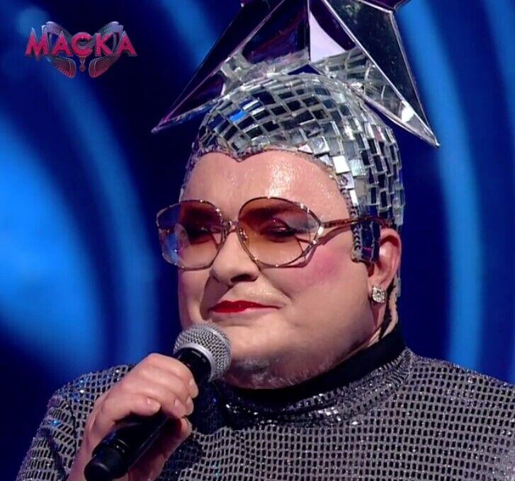 """Сердючка выступила на шоу """"Маска""""."""
