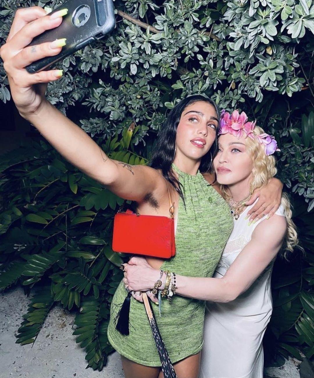 Мадонна со своей дочерью Леон Лурдес