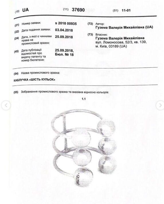 Кольца с шариками были запатентованы.