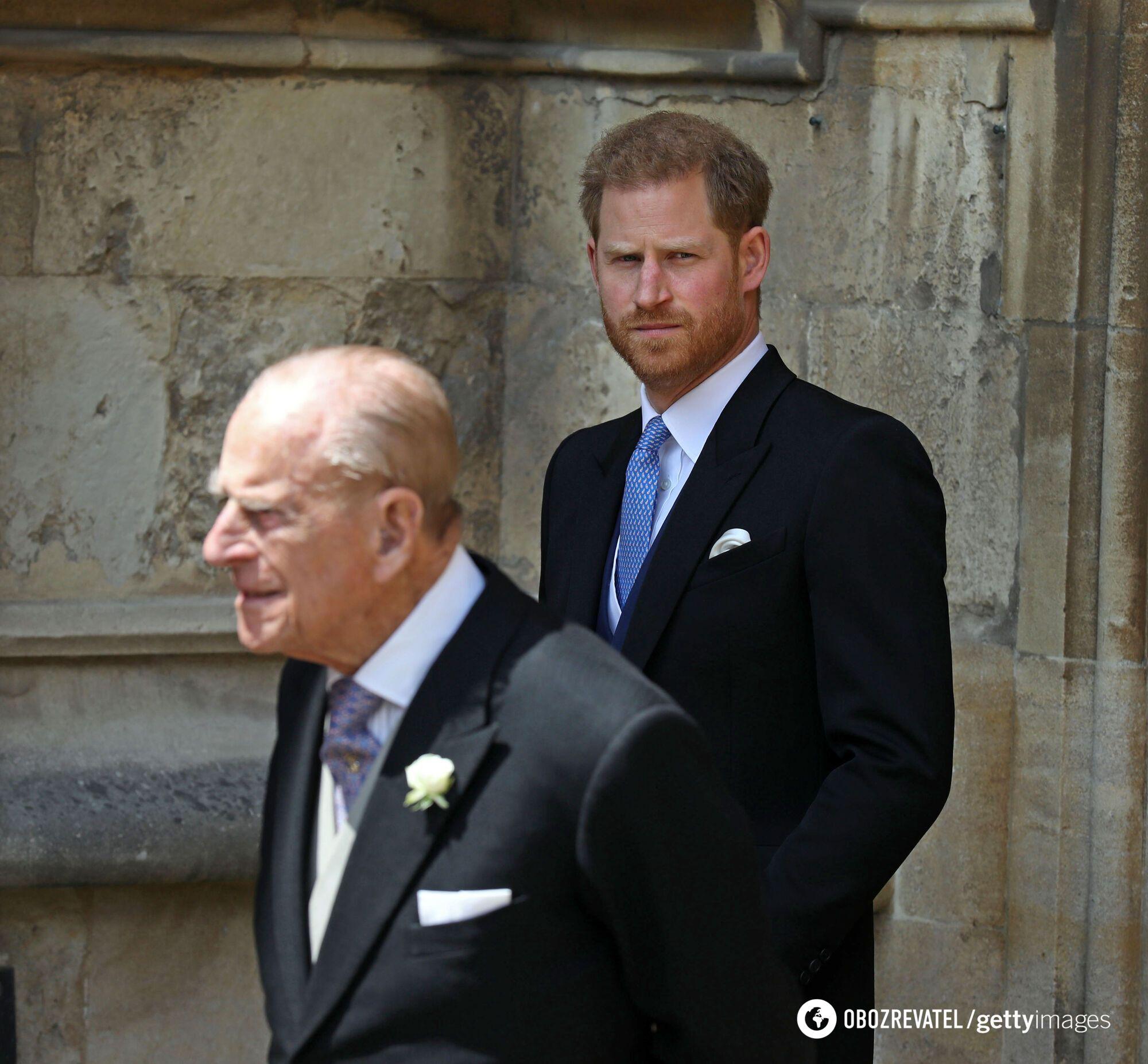 Принц Гарри и принц Филипп