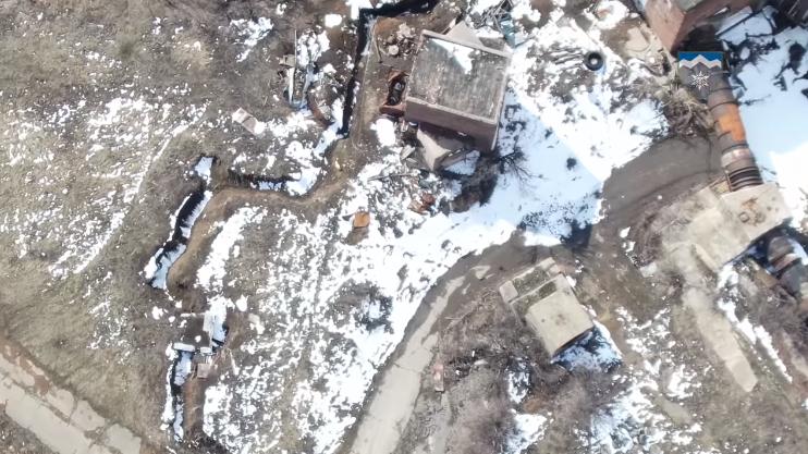 Окупанти сходу України вирили окопи просто біля станції, яка забезпечує водою чотири міста
