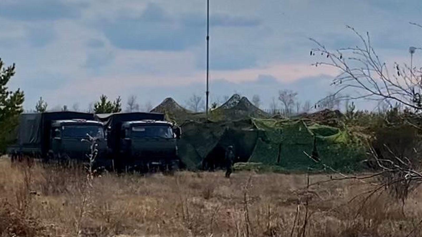 Табір військових Росії біля кордону України