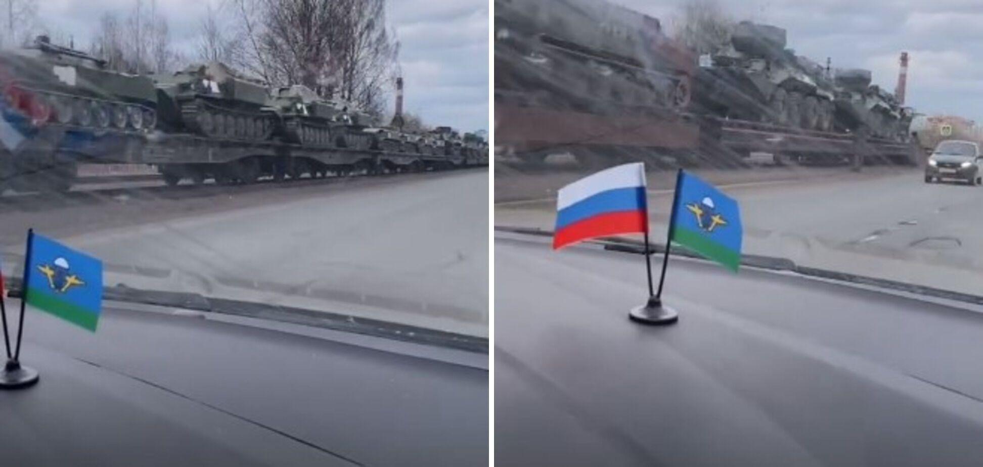 Військова техніка в Пскові 7 квітня.