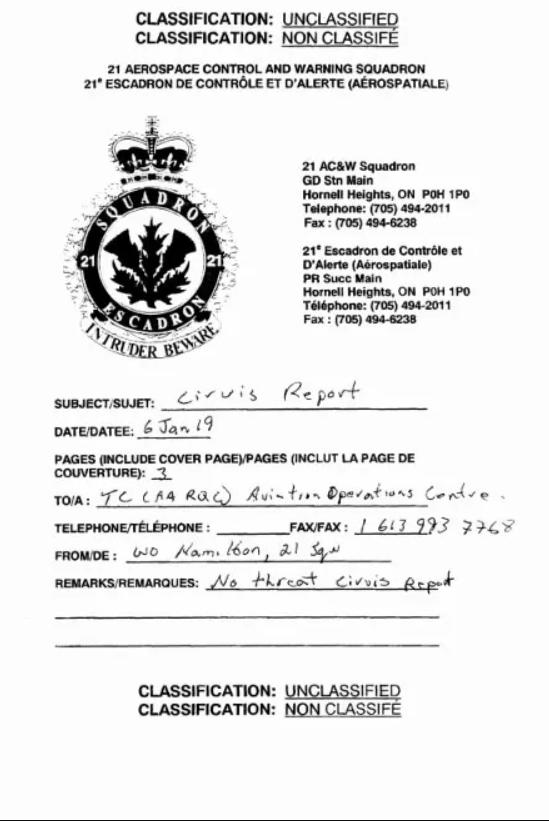 Військові Канади відзвітували про спостереження за НЛО. Документ