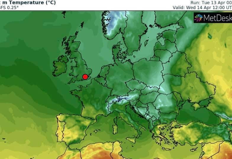 На остальной территории Украины 14 апреля ожидается умеренно теплая погода