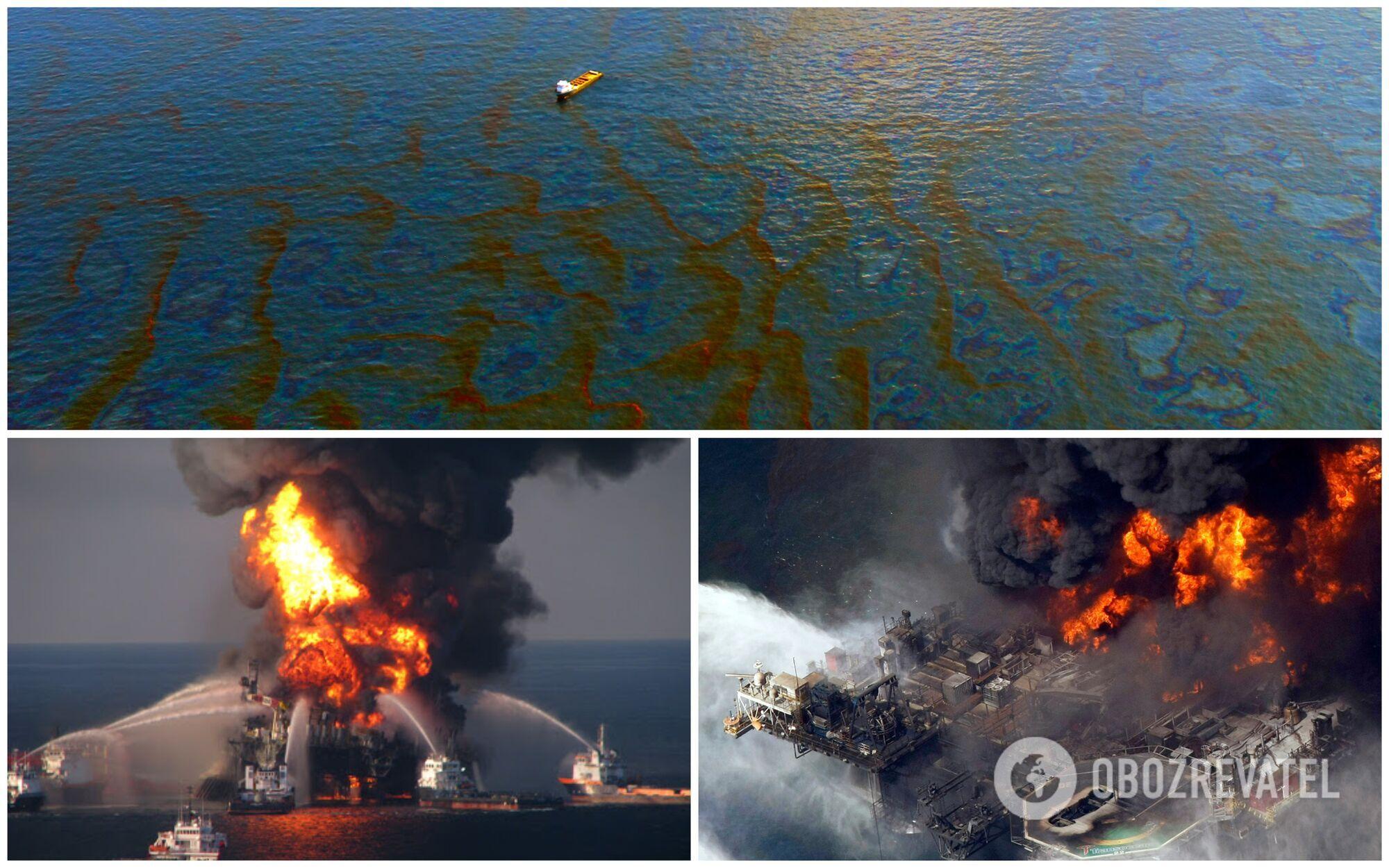 Одной из самых жутких аварий на воде считается затопление нефтяной платформы Deepwater Horizon