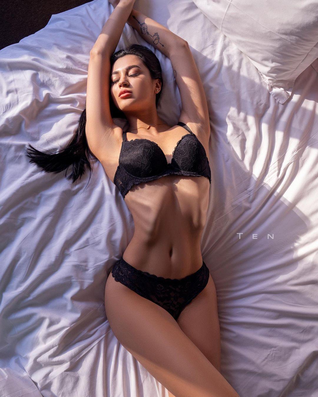 Одна із затриманих моделей Вікторія Ільченко