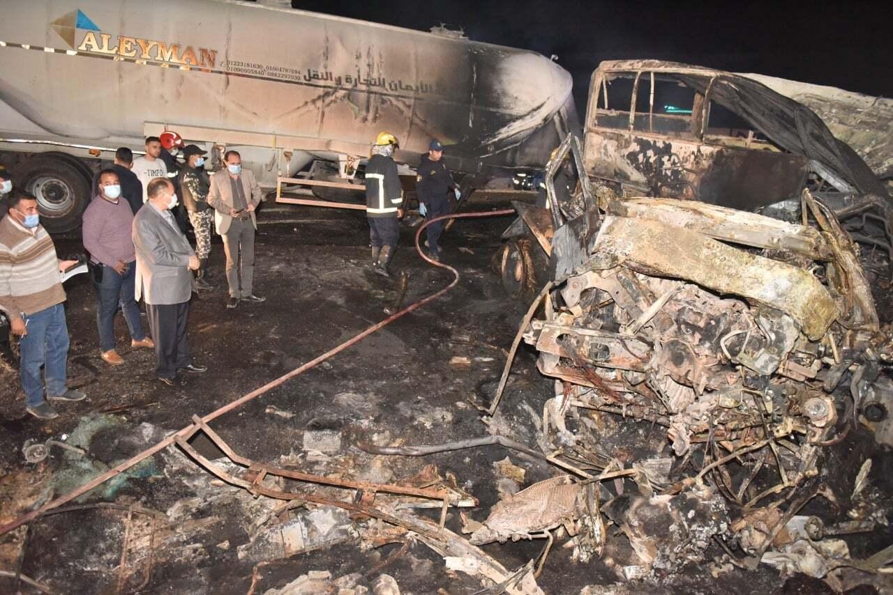 В Египте произошло крупное ДТП: 20 человек сгорели заживо. Фото