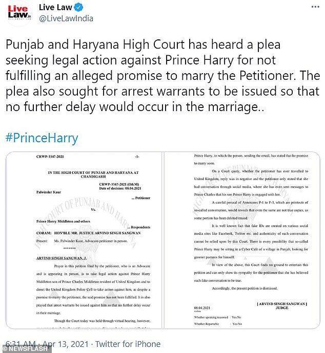 Адвокатка подала в суд на принца Гаррі.
