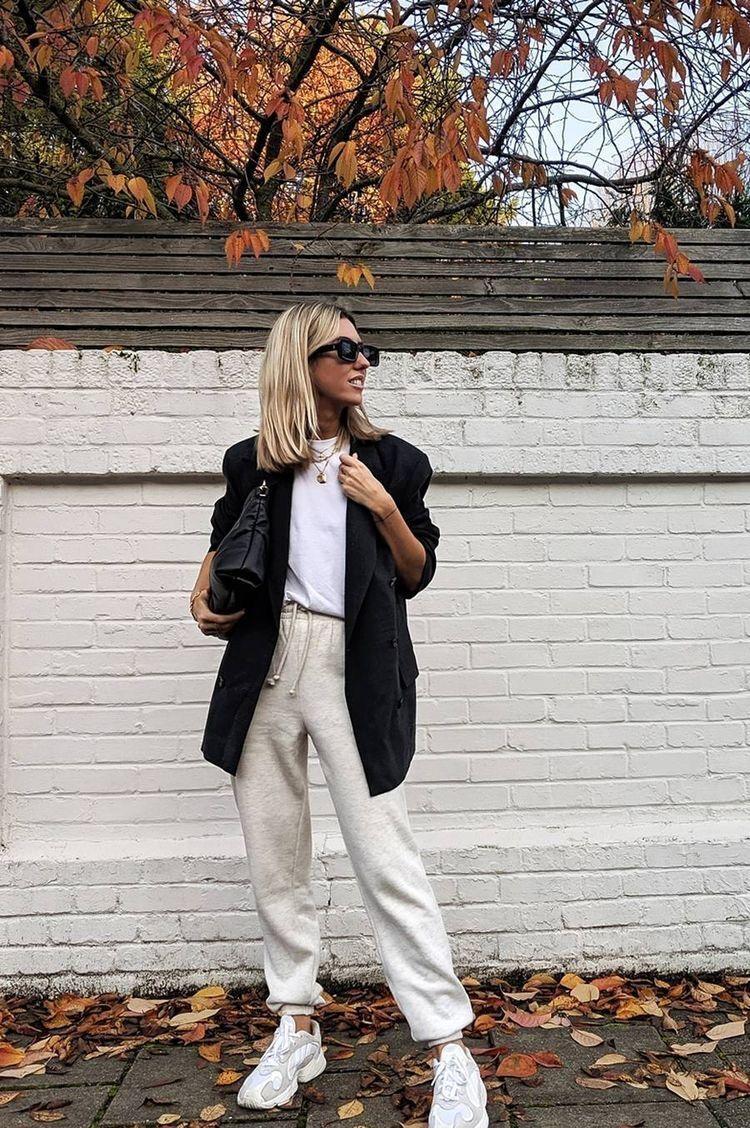 Джоггеры можно скомбинировать с пиджаком