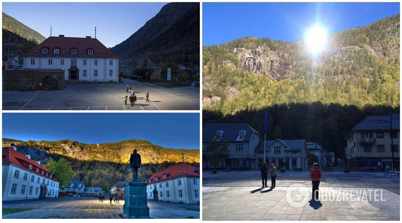 Містечко Рюкан на півдні Норвегії весь час знаходиться в тіні гір