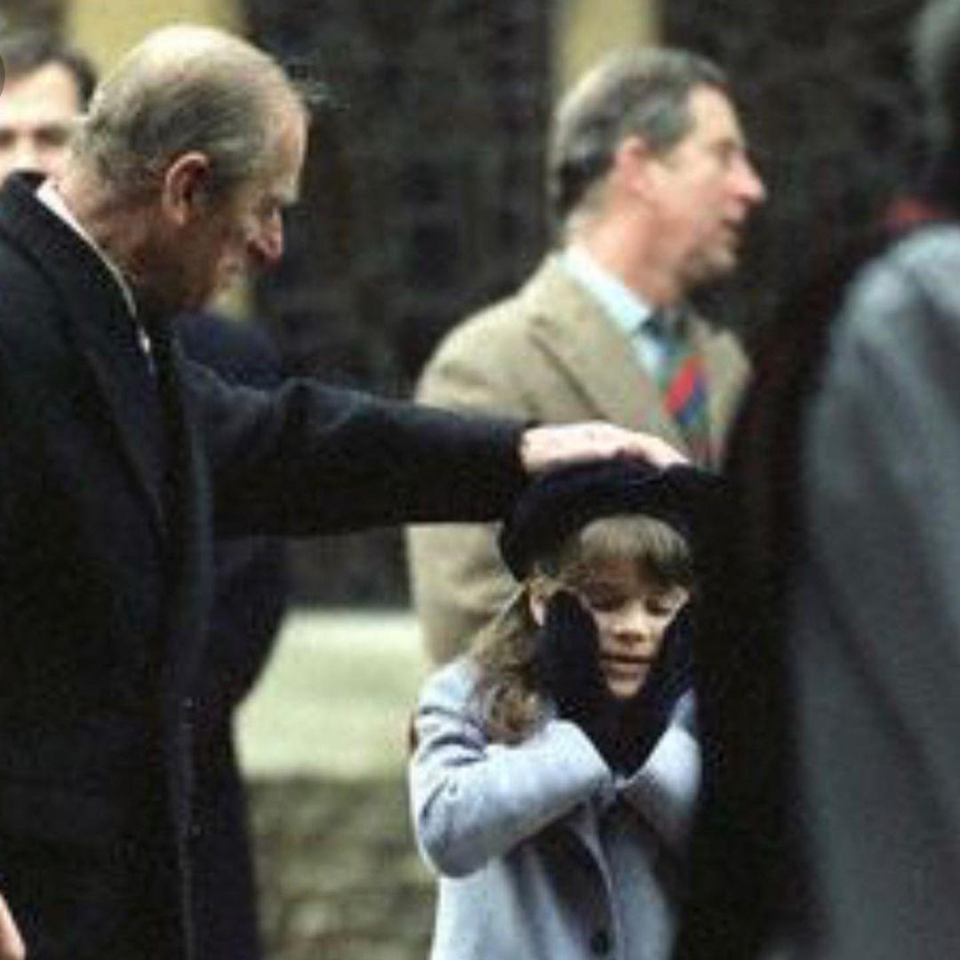 Принцесса Евгения в детстве с дедушкой