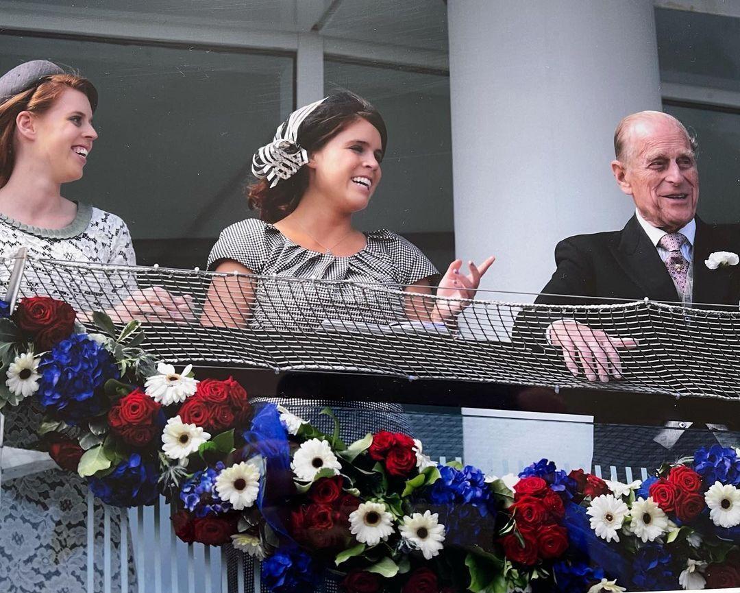 Принцесса Евгения с дедушкой, принцем Филиппом