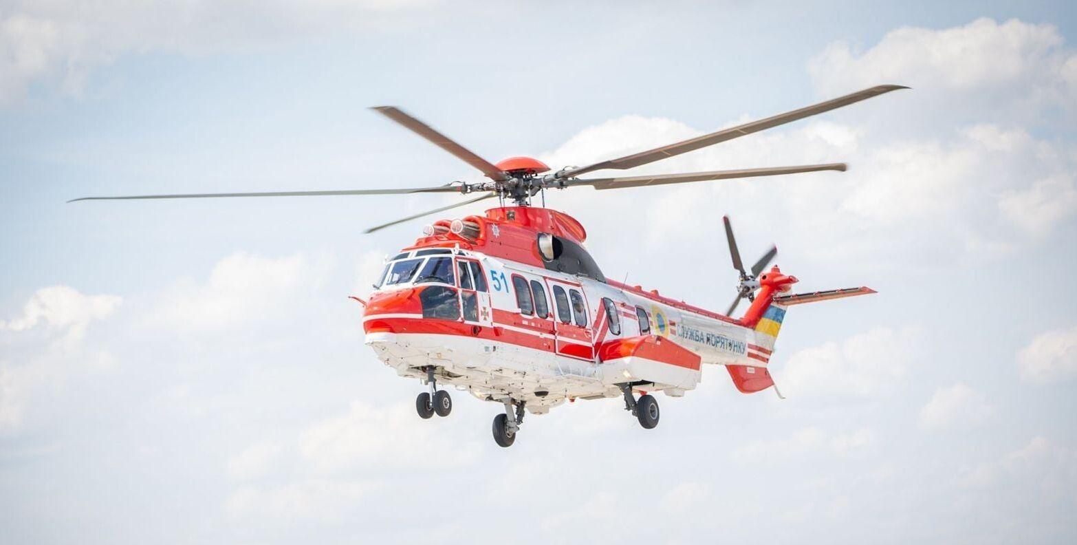 К поискам ребенка подключили ЄС-225 Super Puma