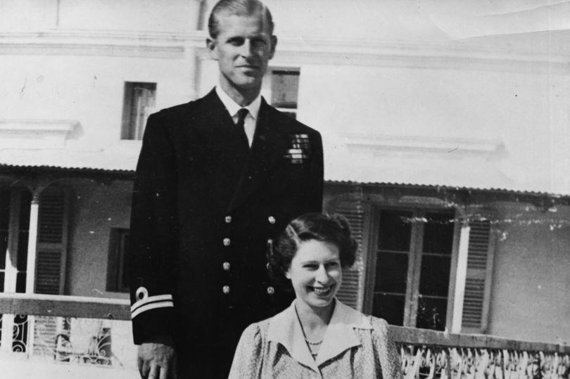 Принц Филипп и Елизавета II в молодости