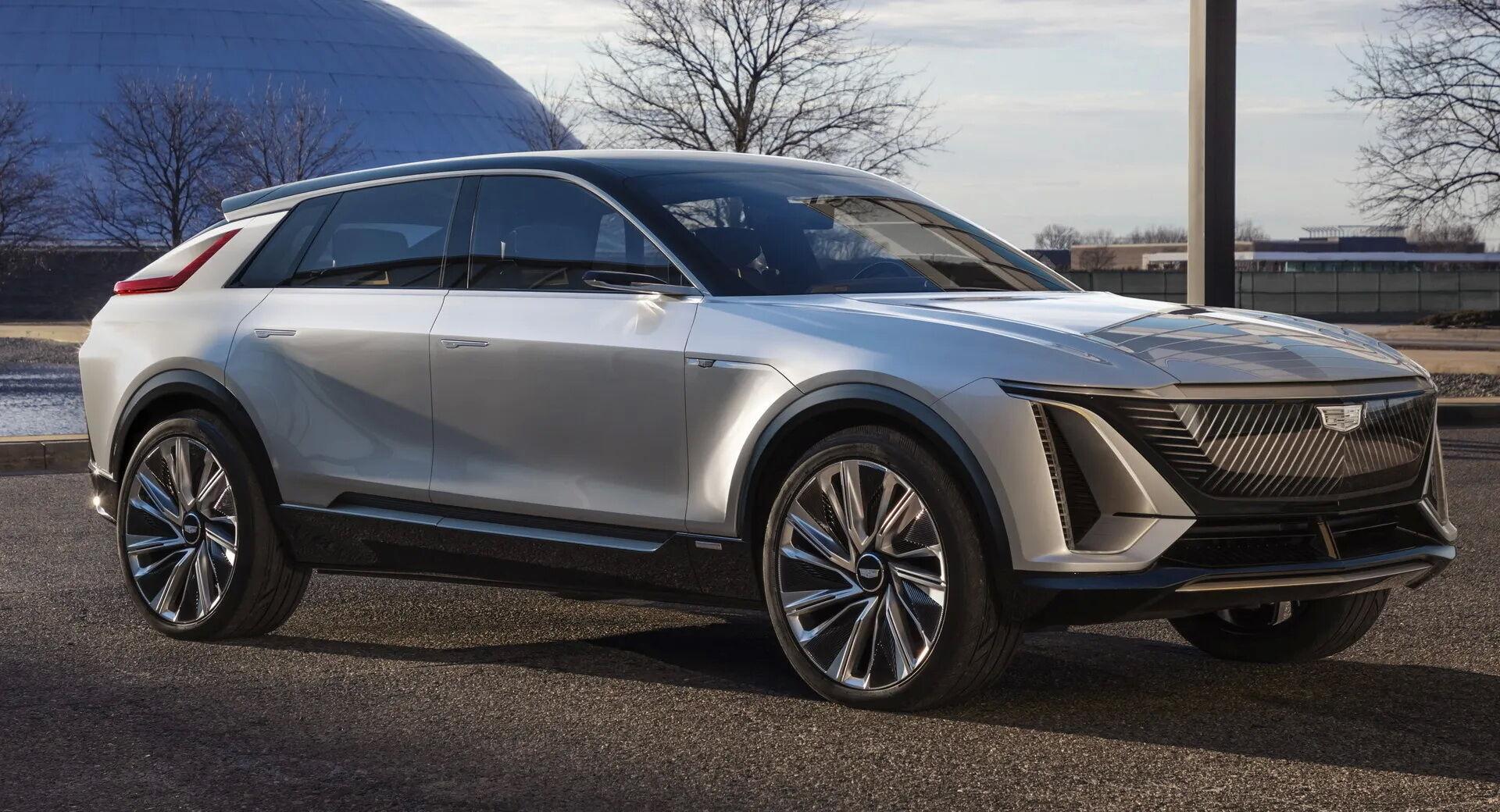 Презентация первого в истории марки Cadillac электрического кроссовера состоится 21 апреля на автошоу в Шанхае