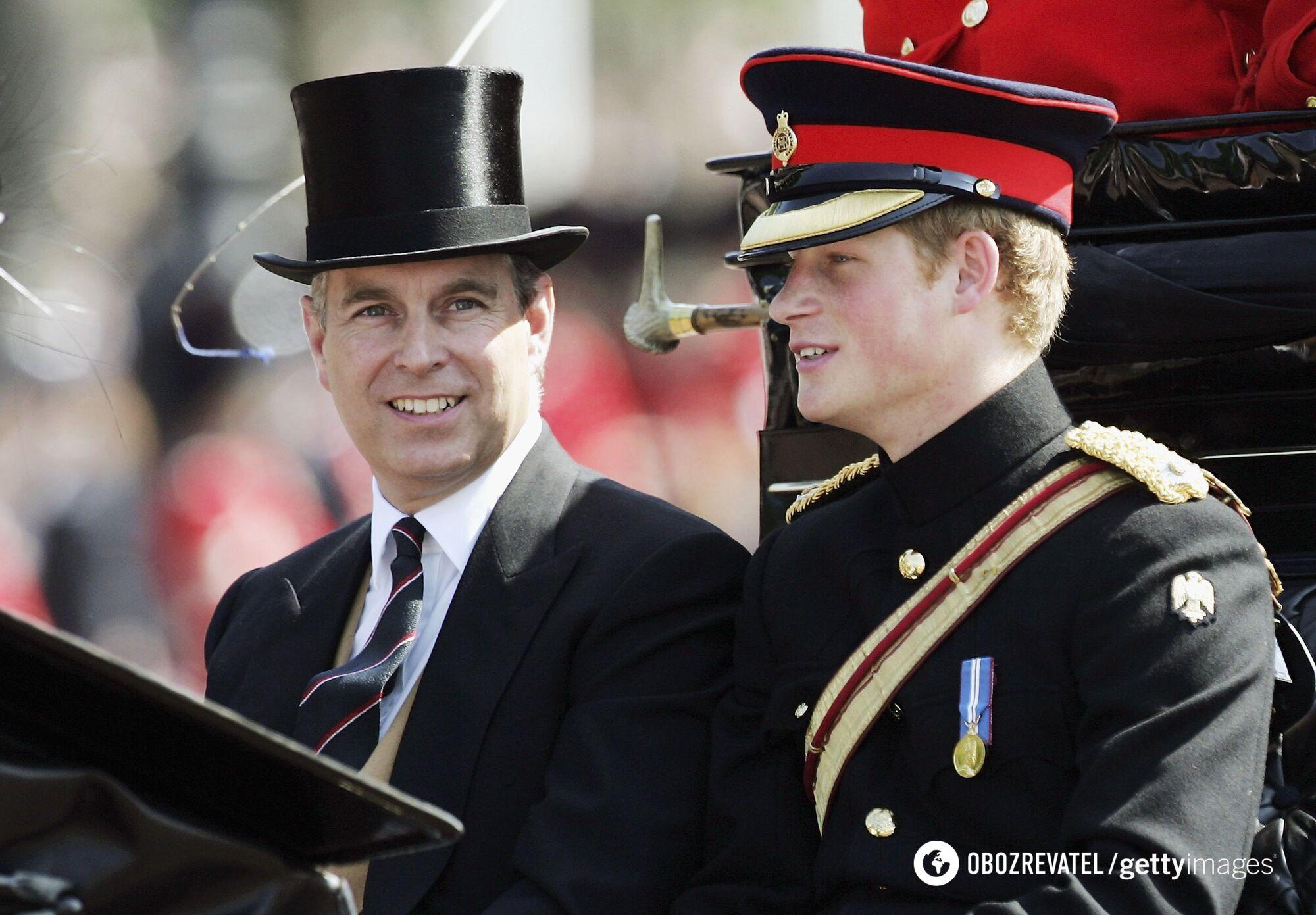 Принц Эндрю и принц Гарри