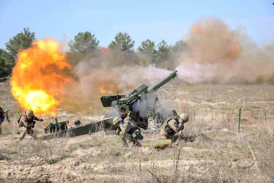 """ВСУ отрабатывали стрельбы из 152 мм орудий 2А36 """"Гиацинт-Б"""""""