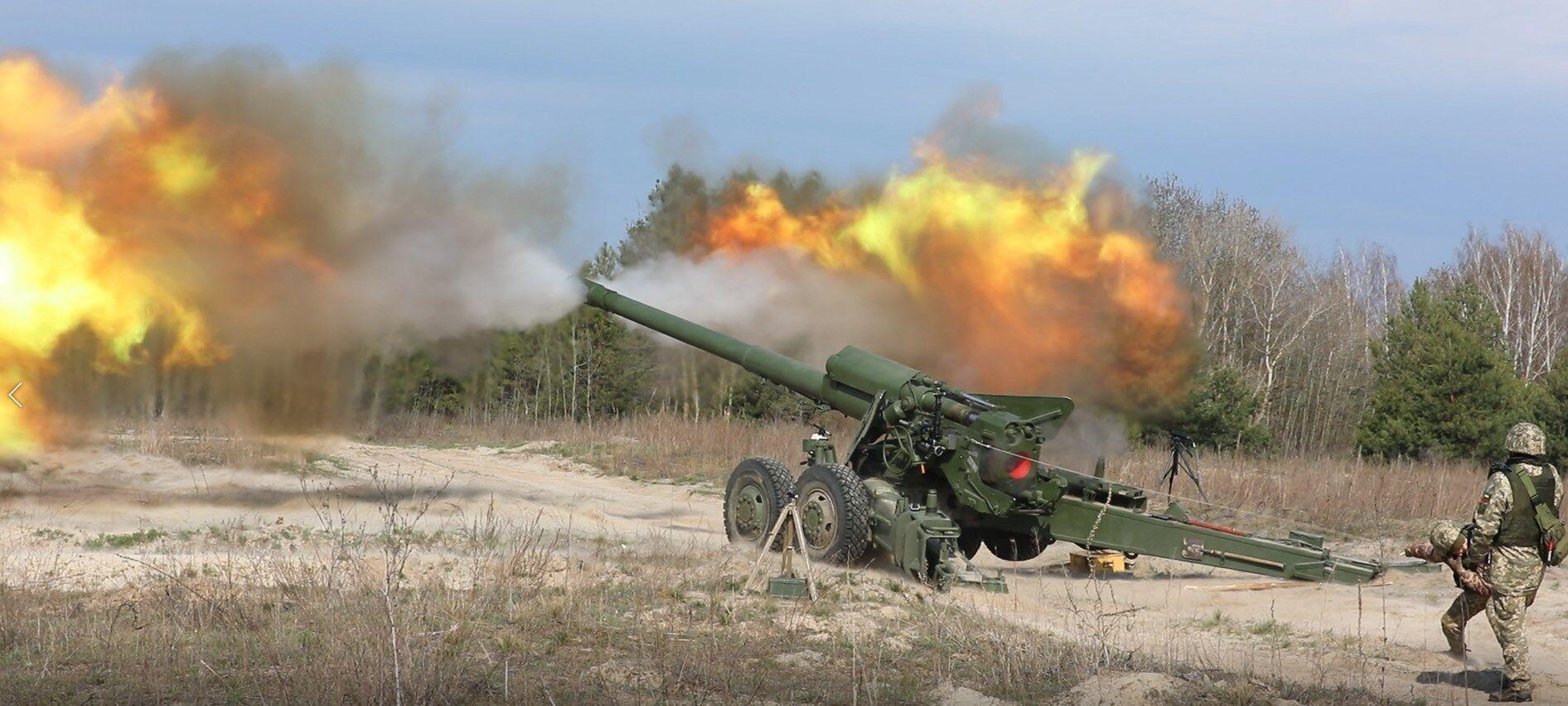 Артиллерия ВСУ ведет огонь