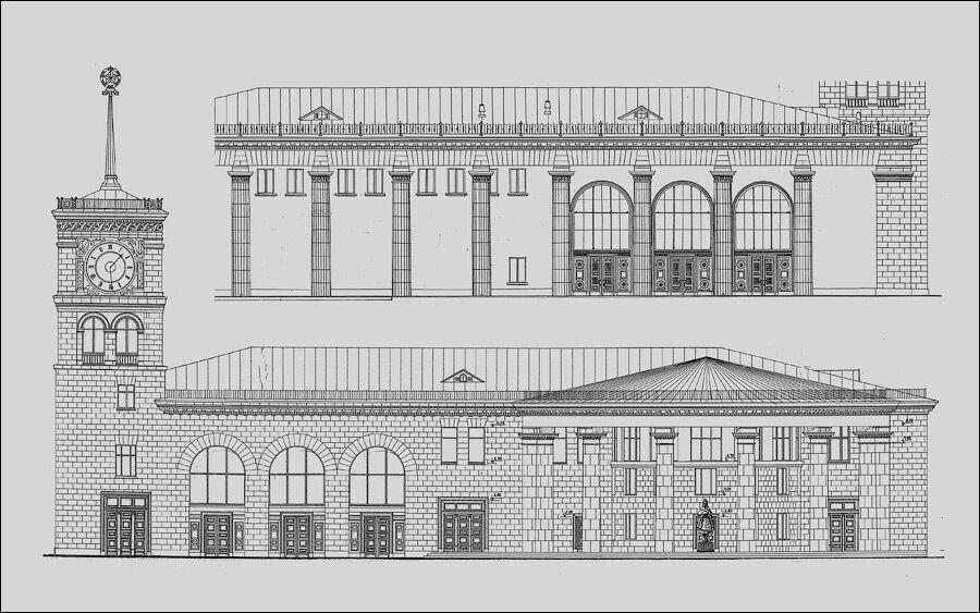 Проект наземного вестибюля.