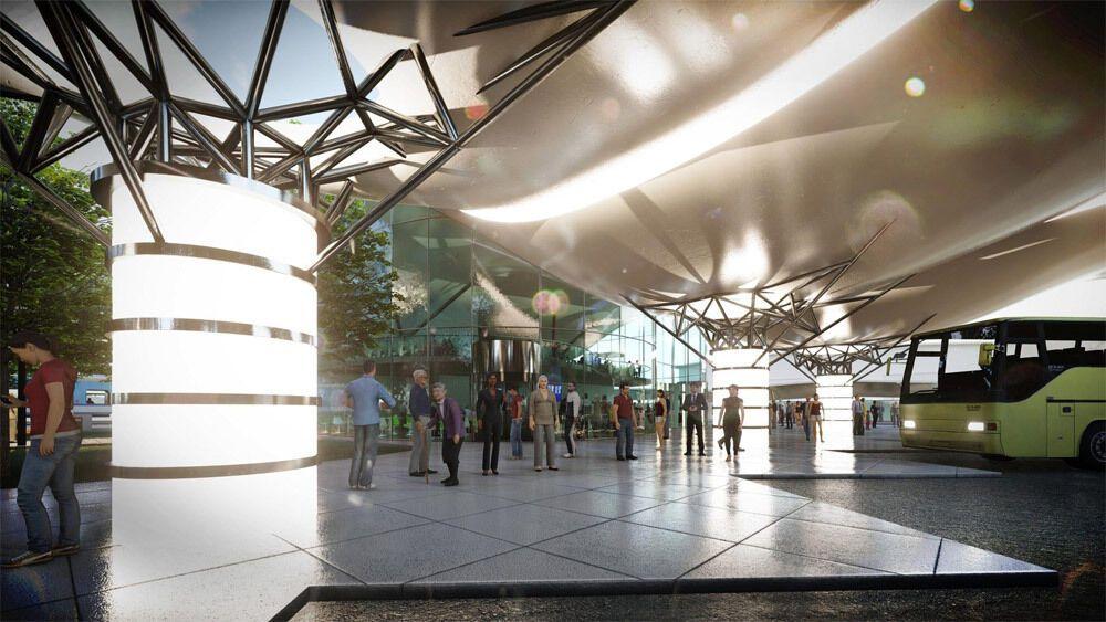 """Станция напоминает дизайн терминала D аэропорта """"Борисполь""""."""