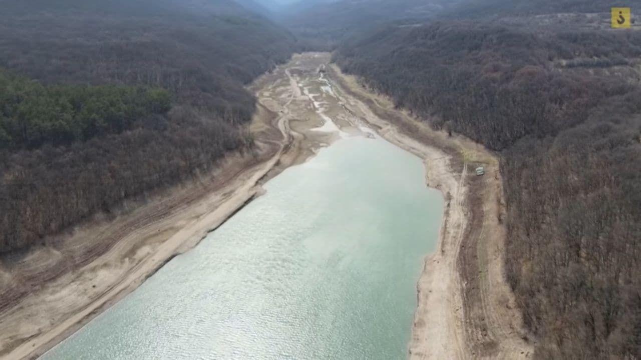 Из-за дефицита воды в Балановском водохранилище осталось меньше 1 млн куб. м воды