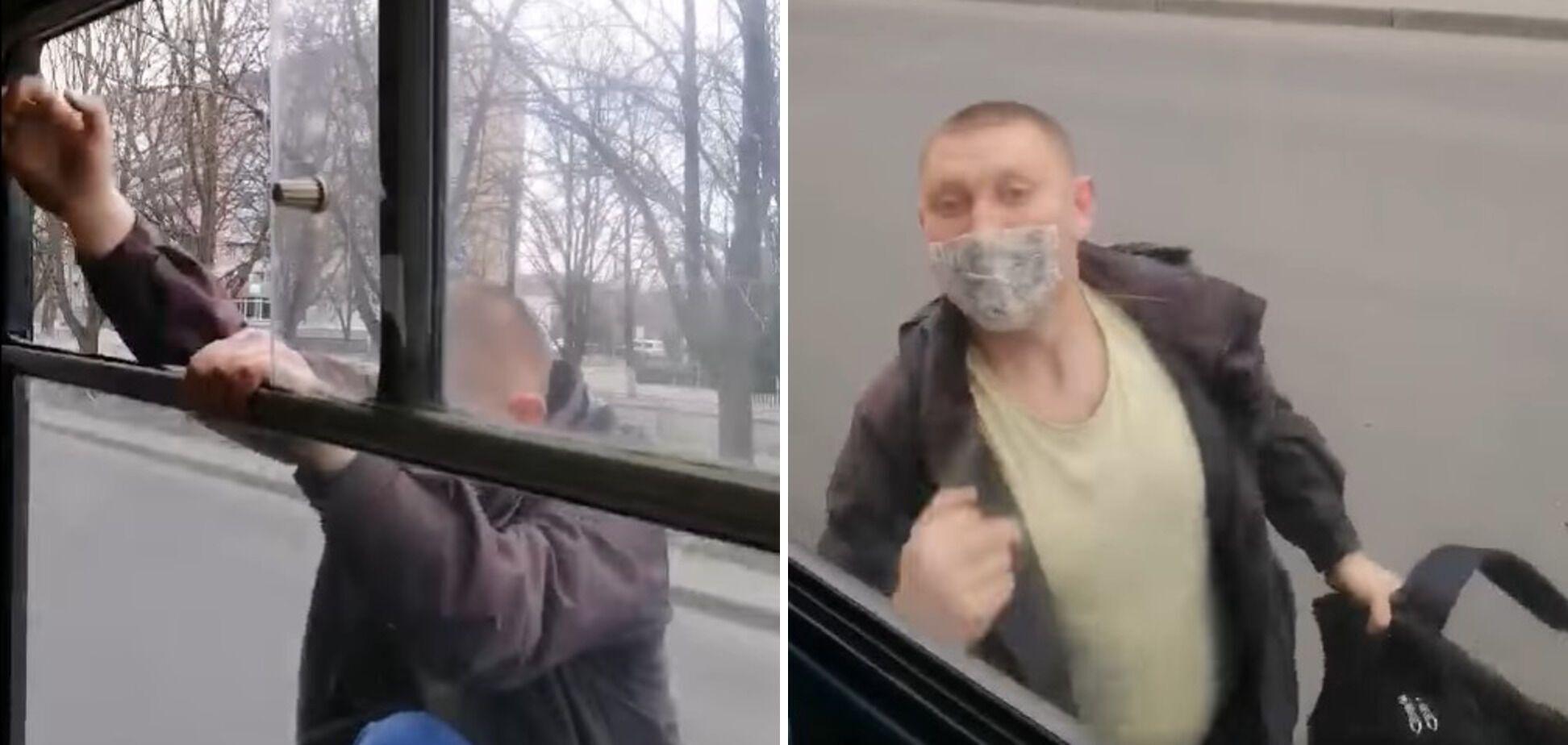 Перед втечею з транспорту пасажир вдарив кондукторку