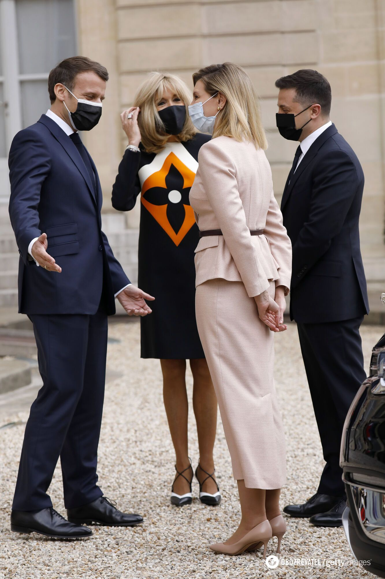 Первые леди Украины и Франции в стильных нарядах