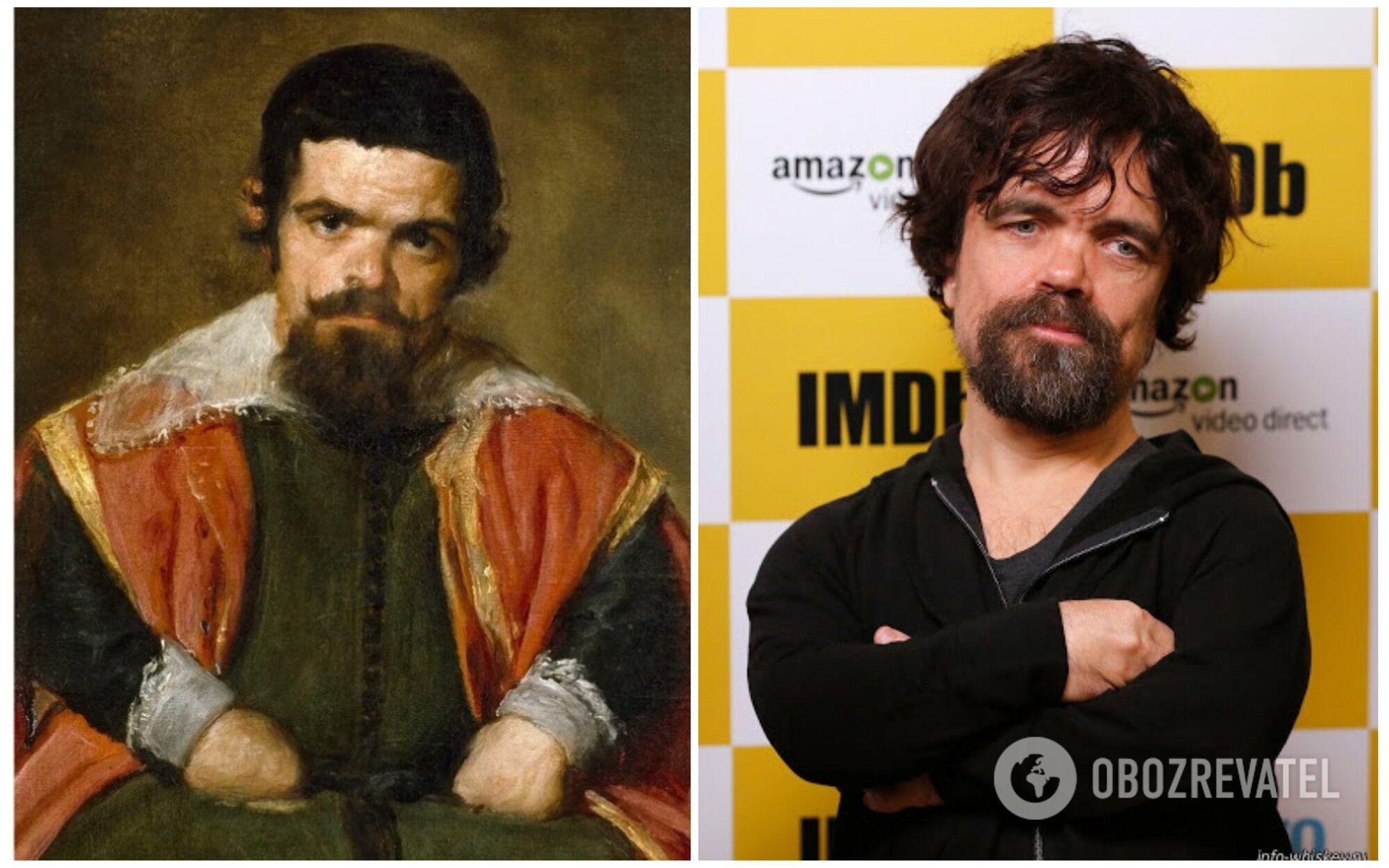 Питер Динклэйдж стал двойником дона Себастьян дель Морра, жившего в 17 веке
