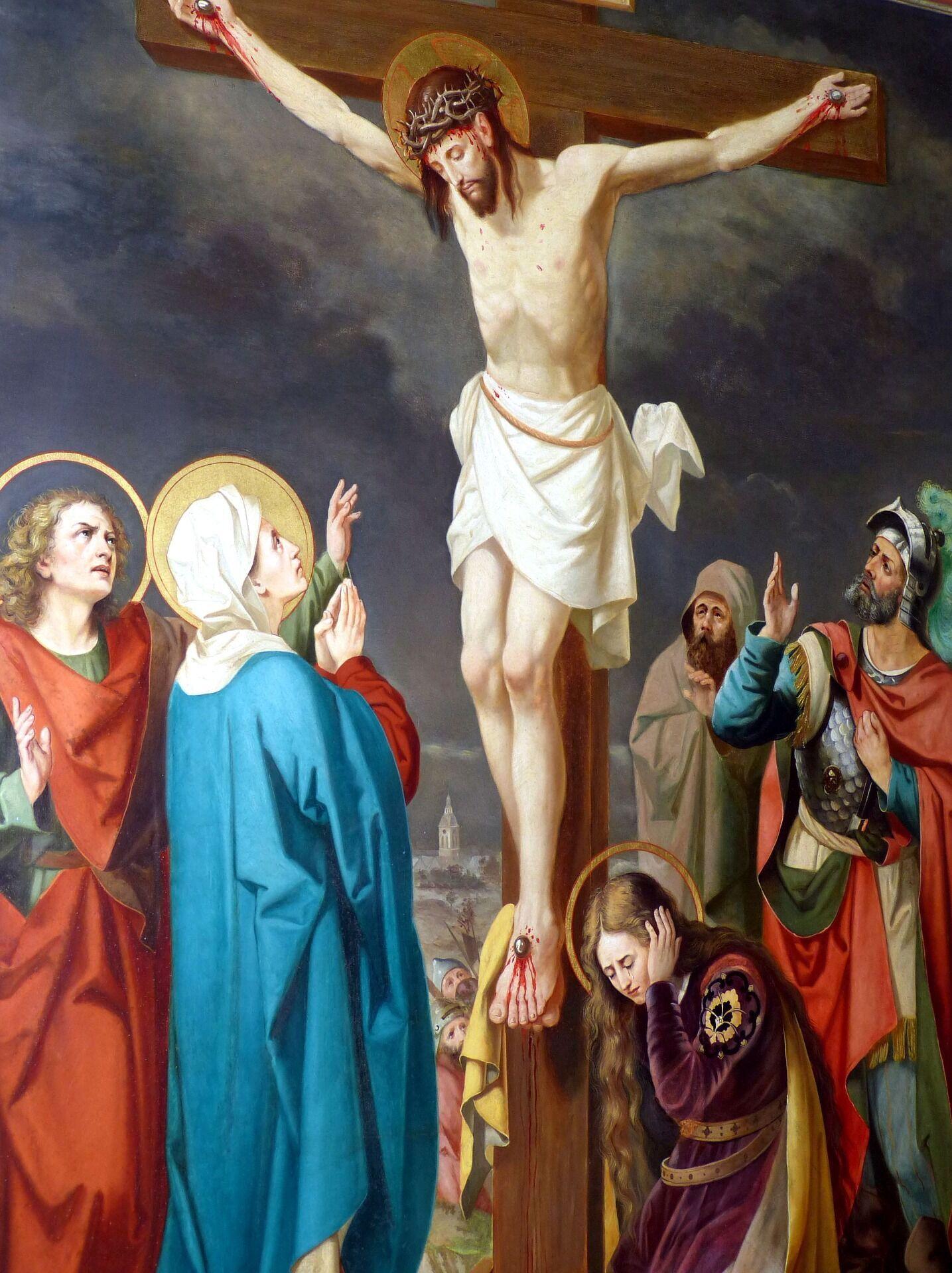 О третій годині дня священнослужителі виносять з вівтаря Плащаницю