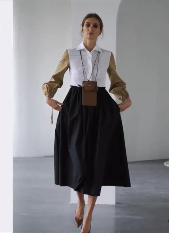 Приталенное платье А-силуэта в моде этой весной