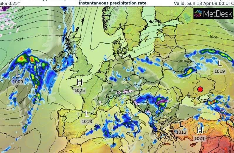 Погода в Україні 18 квітня.