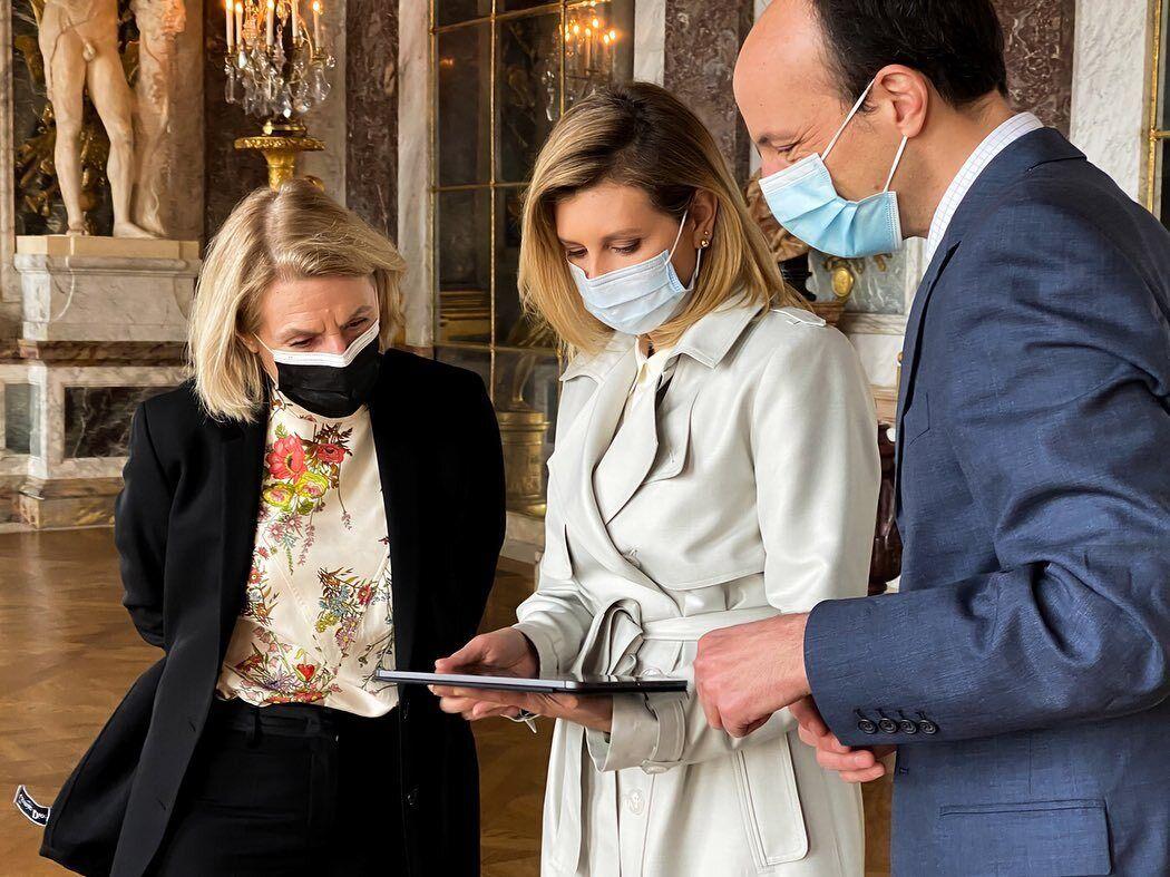 Олена Зеленська у Версальському палаці