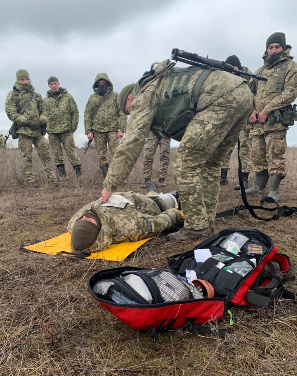Військові Державної прикордонної служби України провели навчання в зоні проведення ООС у Донецькій області