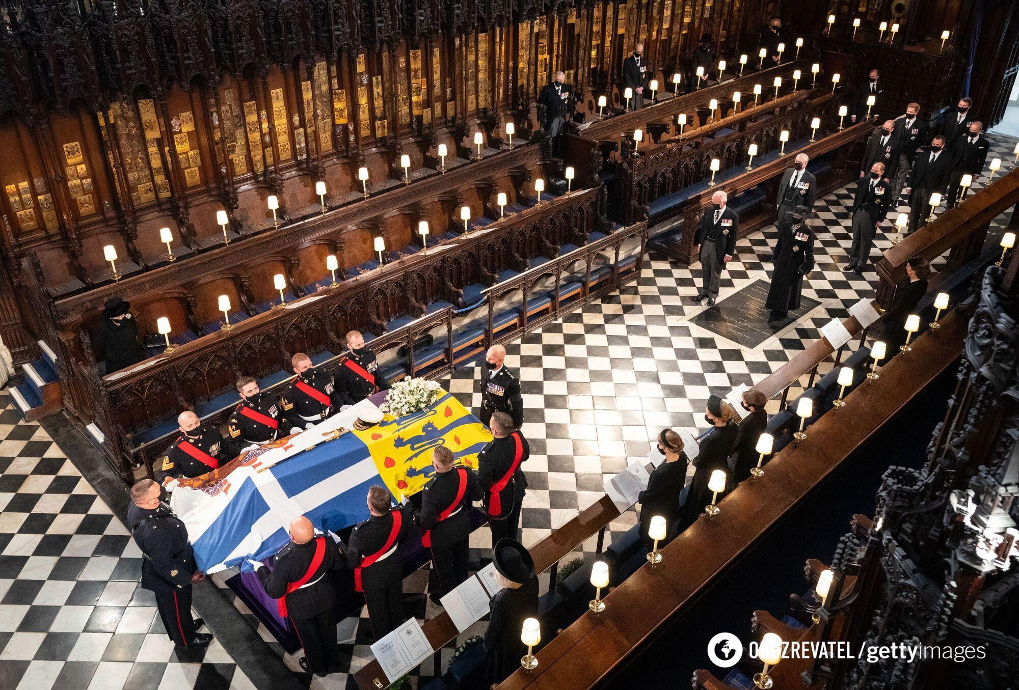 Похоронная служба в часовне Святого Георгия