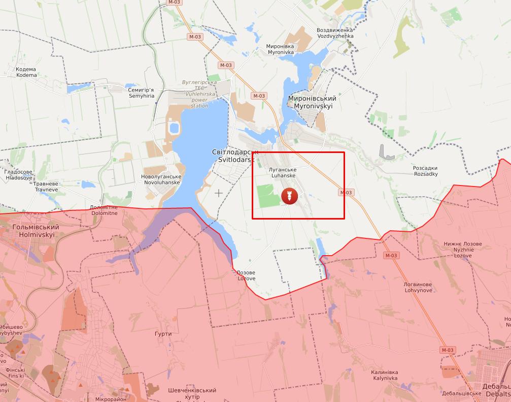 Обстрел в районе Луганского.