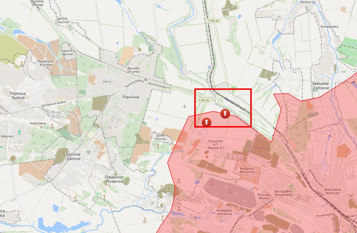 Обстрел в районе Майорска.