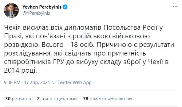 Пост посла Украины в Чехии.